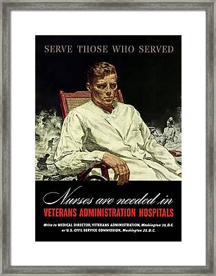 Serve Those Who Served - Va Hospitals Framed Print by War Is Hell Store
