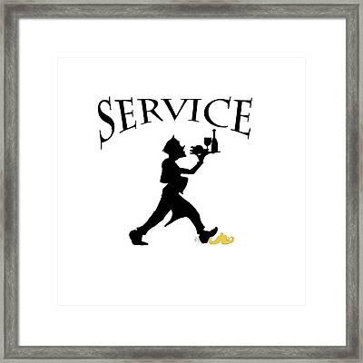 Service Framed Print by Jam