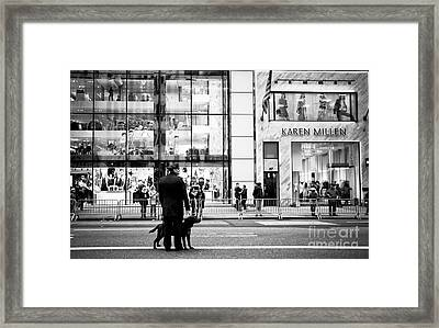 Service Framed Print by John Rizzuto