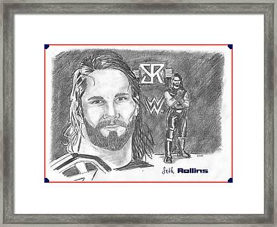 Seth Rollins Framed Print by Chris  DelVecchio