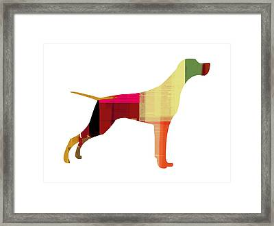 Setter Pointer Framed Print by Naxart Studio