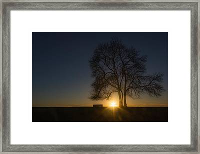 Setting Framed Print by Chris Fletcher