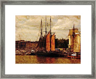 Setting Sail From Bristol Framed Print by Brian Roscorla