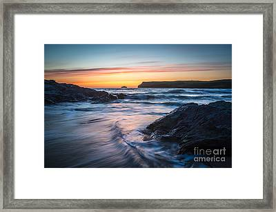 Setting Sun Framed Print by Amanda Elwell
