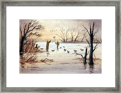 Setting The Decoys II Framed Print by Bill Holkham