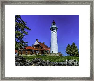 Seul Choix Point Lighthouse Framed Print by Nick Zelinsky