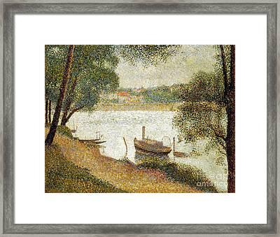 Seurat: Gray Weather Framed Print by Granger