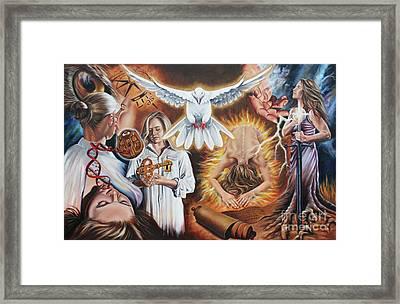 Seven-fold Spirit Of The Lord Framed Print by Ilse Kleyn