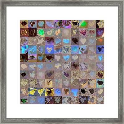 Seven Hundred Series Framed Print by Boy Sees Hearts