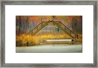 Seven Ponds A Frame Bridge Framed Print by LeeAnn McLaneGoetz McLaneGoetzStudioLLCcom