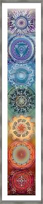 Seven, The Chakras Framed Print by Brenda Erickson