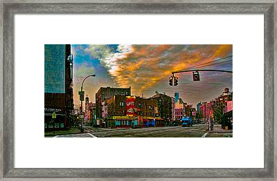 Seventh And Bleeker At Sunrise Nyc Framed Print by Chris Lord