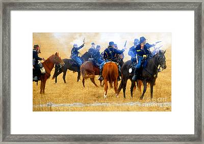 Seventh Cavalry In Action Framed Print by David Lee Thompson