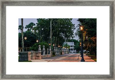 Sevilla Street In Saint Augustine Florida Framed Print by Rob Sellers