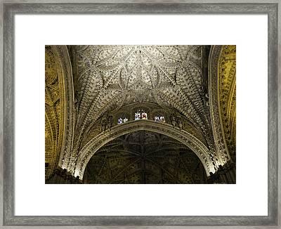 Seville Cathedral - Looking Up Framed Print by Madeline Ellis
