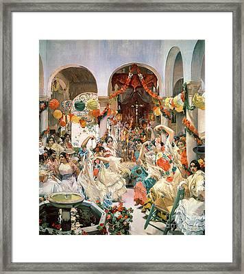 Seville Framed Print by Joaquin Sorolla y Bastida