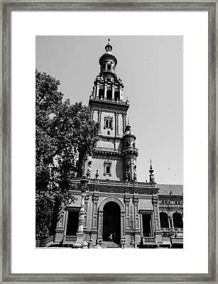 Seville - Plaza De Espana 10 Framed Print by Andrea Mazzocchetti