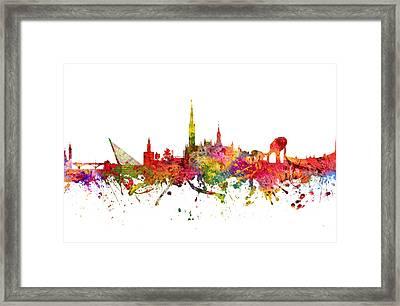 Seville Spain Cityscape 08 Framed Print by Aged Pixel