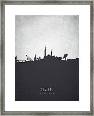 Seville Spain Cityscape 19 Framed Print by Aged Pixel