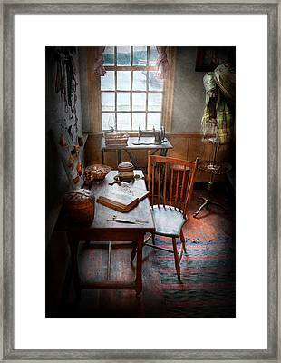 Sewing - I Dream About The Ocean  Framed Print by Mike Savad