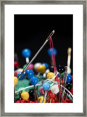 Sewing Equipment Macro Framed Print by Donald Erickson