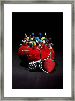 Sewing Equipment - Pin Cushion Framed Print by Donald Erickson