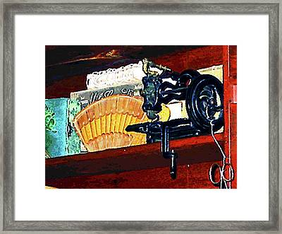 Sewing Machine For Sale Framed Print by Susan Savad
