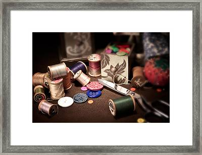 Sewing Notions I Framed Print by Tom Mc Nemar