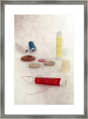 Sewing Supplies Framed Print by Joana Kruse