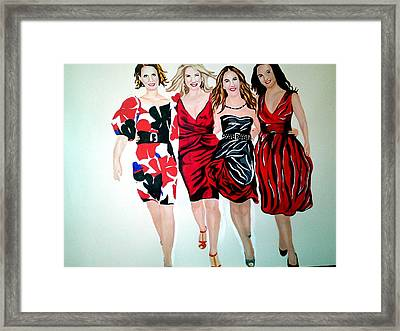 Sex And The City Framed Print by Pauline Murphy