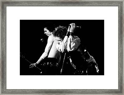 Sex Pistols John And Sid 1978 Framed Print by Chris Walter