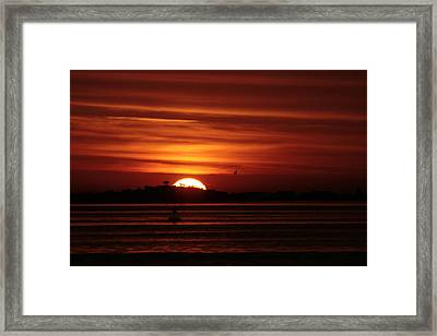 Sexton Island Sunrise Framed Print by Christopher Kirby