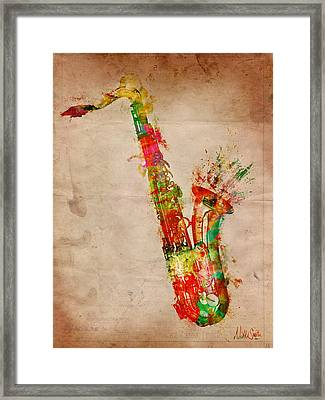 Sexy Saxaphone Framed Print by Nikki Smith