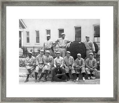 Sf Seals Baseball Team Framed Print by Underwood Archives