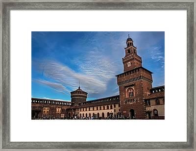 Sforzesco Castle Milan  Framed Print by Carol Japp