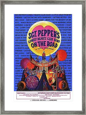 Sgt. Pepper's Poster Framed Print by Howard Dando