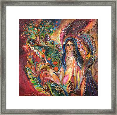 Shabbat Queen Framed Print by Elena Kotliarker