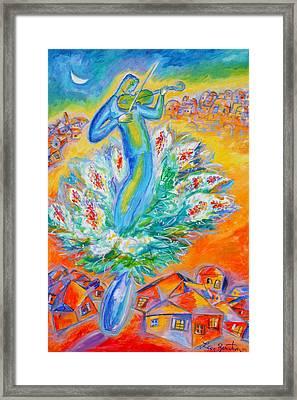 Shabbat Shalom Framed Print by Leon Zernitsky