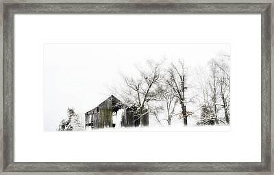 Shabby Barn Framed Print by Kathy Jennings