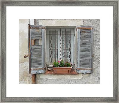 Shabby Elegant Window Framed Print by Marilyn Dunlap