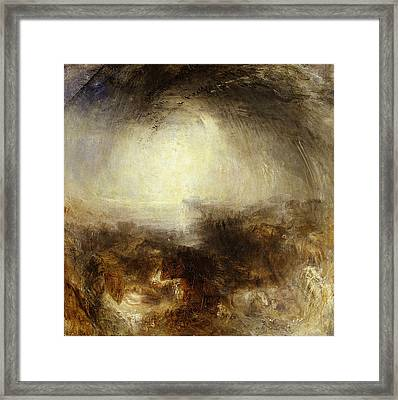 Shade And Darkness,  The Evening Of The Deluge Framed Print by JMW Turner