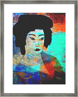 Shades Of A Geisha Framed Print by Kathy Bucari
