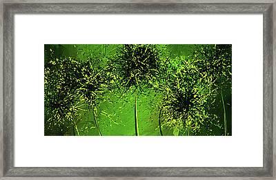 Shades Of Green - Green Modern Art Framed Print by Lourry Legarde