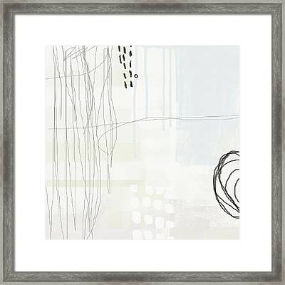 Shades Of White 1 - Art By Linda Woods Framed Print by Linda Woods