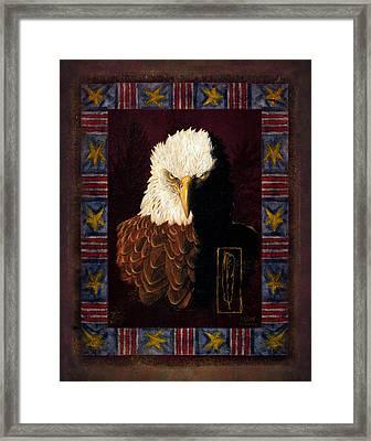 Shadow Eagle Framed Print by JQ Licensing