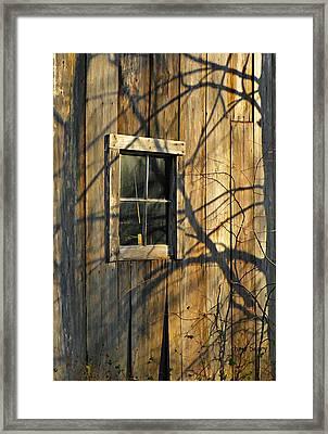 Shadow Farm Framed Print by Chris Berry