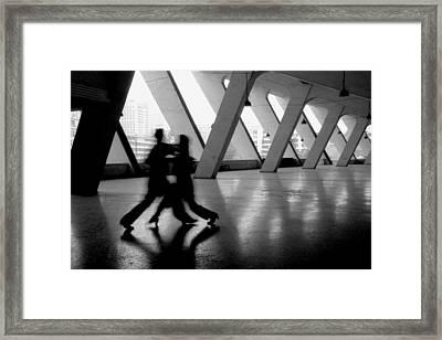 Shadow Tango Framed Print by Lian Wang
