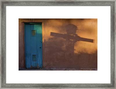 Shadows Adobe Wall Framed Print by Steve Gadomski