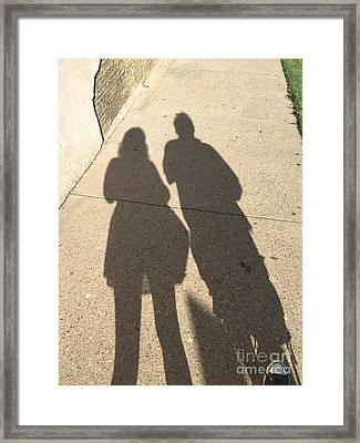 Shadows Framed Print by Venus