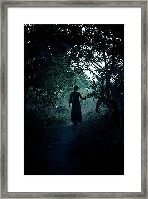 Shadowy Path Framed Print by Cambion Art